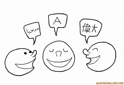 personas conversando para colorear personas hablando