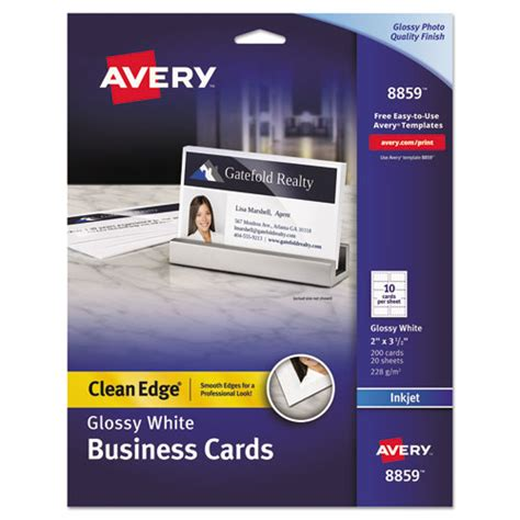 avery clean edge busines cards inkjet template ave8859 avery clean edge business cards zuma