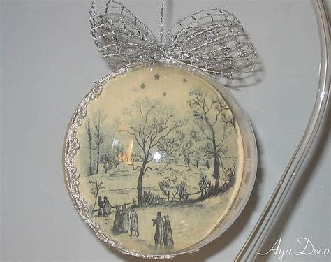 decoupage glass ornaments decoupage ornament decoupage