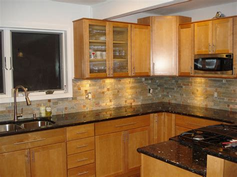 Black Granite Countertops With Cabinets by Kitchen Backsplash With Black Pearl Quartz Counter Tops