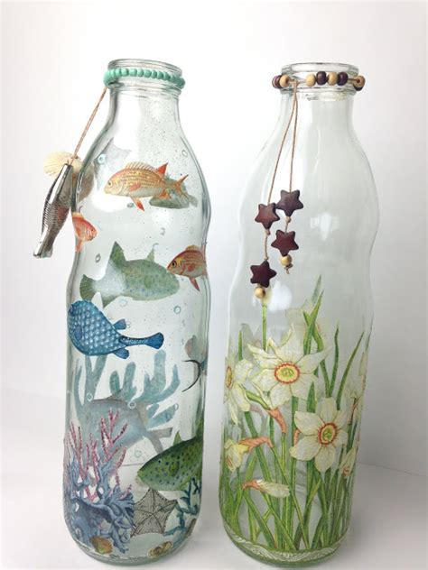 decoracion de botellas de vidrio con servilletas botellas decoradas con decoupage de servilletas