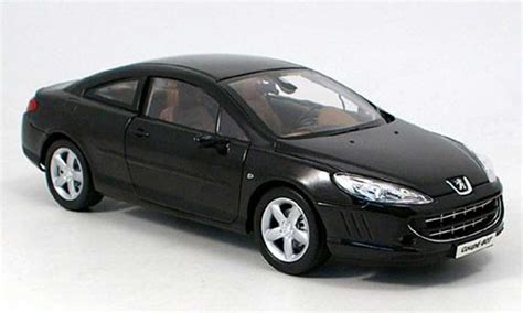 peugeot 407 coupe black 2005 norev diecast model car 1 18