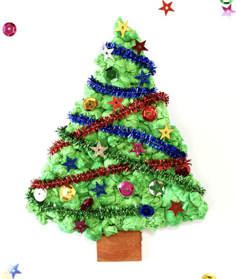 tissue paper christmas tree christmas decore