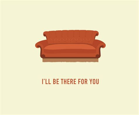 couch from friends friends tv show card central perk couch by classycardscreative