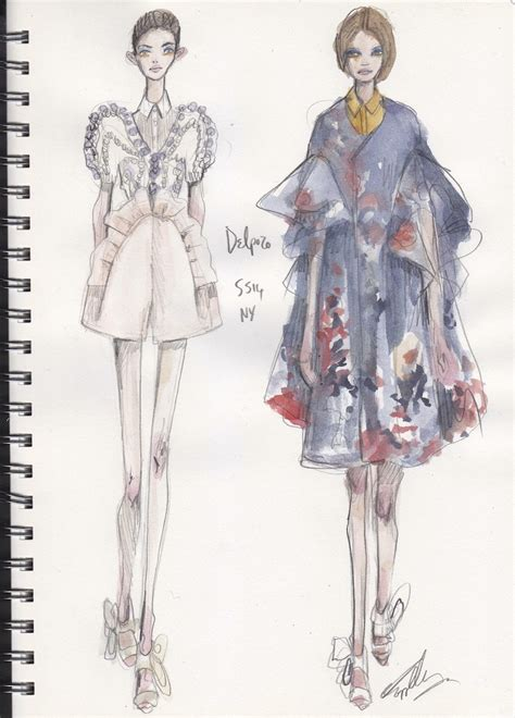 illustration files new york fashion week runway sketches