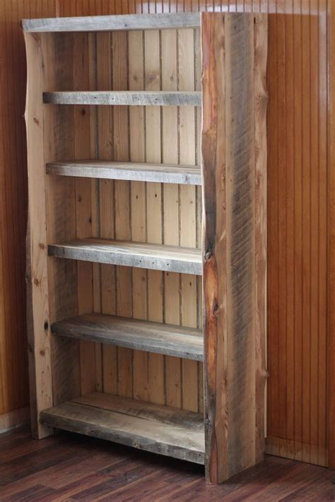 17 best ideas about reclaimed wood bookcase on