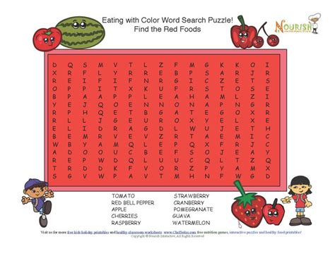 printable word search nutrition challenge your little chefs to complete this fun word