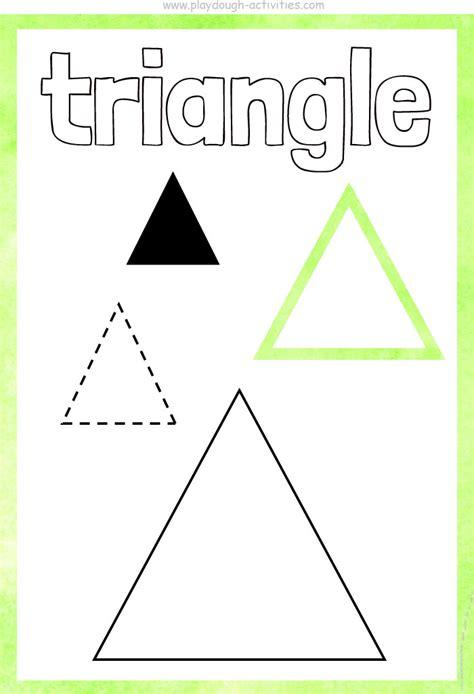 Shape Playdough Mats by Triangle Shape Playdough Mat