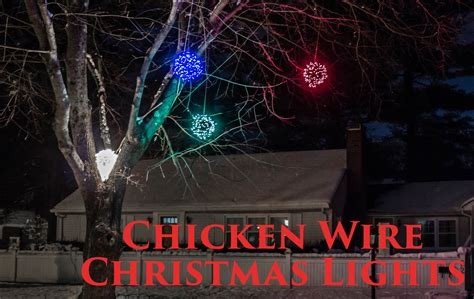 how to make lighted chicken wire christmas balls diy