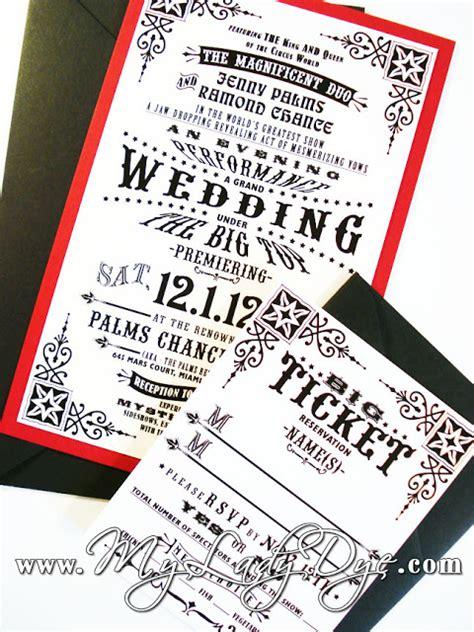 circus wedding invitations vintage circus wedding invitation my dye