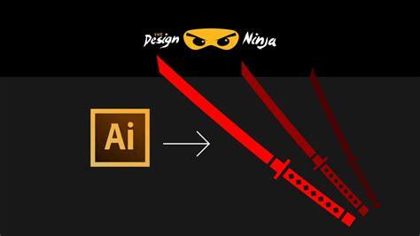 illustrator tutorial ninja how to make a ninja sword logo icon in illustrator design
