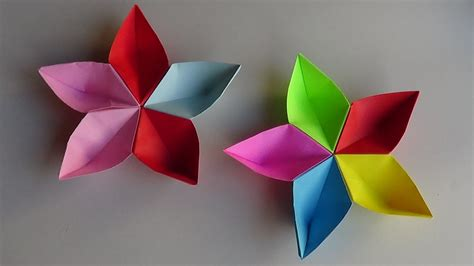 Really Easy Origami Flower - simple origami flower how to make simple origami