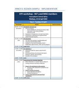 workshop report template 10 agenda templates free sle exle