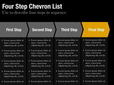 powerpoint chevron template chevron list template for keynote and powerpoint slidevana