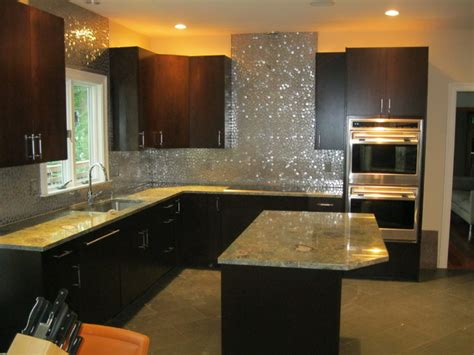 modern backsplash Modern Kitchen Boston by Tile Gallery