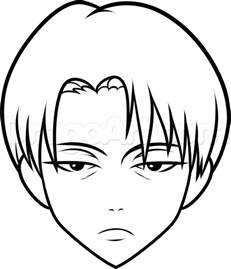 how to draw levi easy step by step anime characters