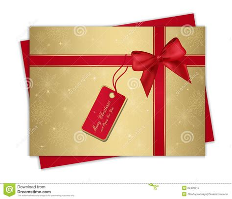 christmas gift card stock photography image 22409312