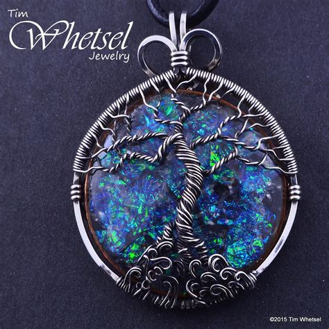 wrap jewelry sterling silver tree of orgonite necklace pendant