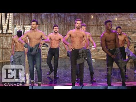 magic mike live dancers teach channing tatum surprises audience with magic mike live