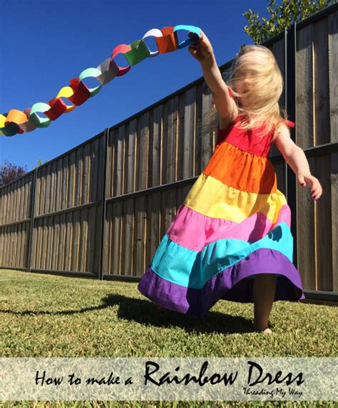 Pocket Maxi Rainbow Dress threading my way how to make a rainbow dress
