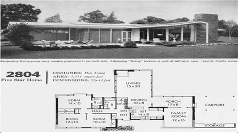 Mid Century House Plans by Mid Century Modern House Floor Plan Mid Century Modern