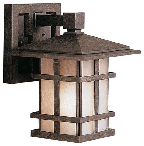 Craftsman Outdoor Light Fixtures by Kichler Cross Creek Outdoor Wall Mount Light Fixture In Bronze Craftsman Outdoor Wall Lights