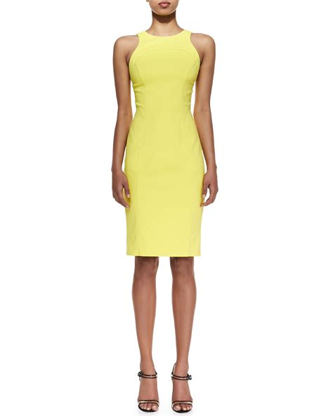 Dress Yellow Scuba beard scuba racerback dress in yellow lyst