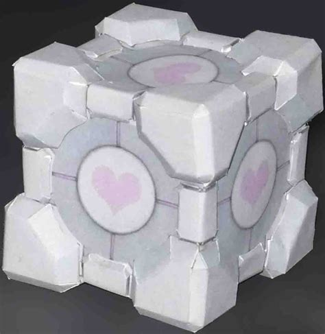 Papercraft Companion Cube - weighted companion cube by thexter711 on deviantart