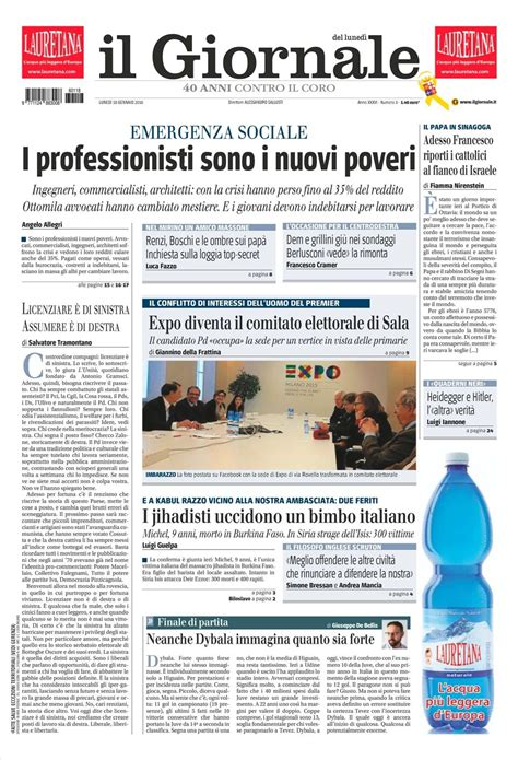 quotidiano interno 18 le prime pagine dei quotidiani sono in edicola oggi 18