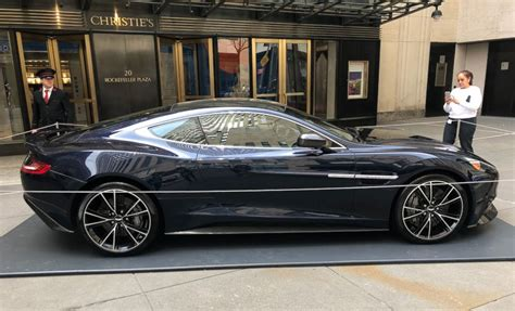 Aston Martin New York by Daniel Craig S Aston Martin Vanquish On Display Outside