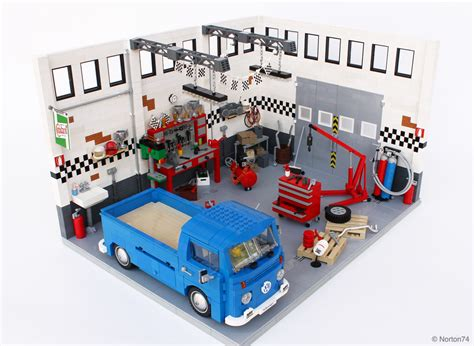 tutorial lego single car garage lego ideas garage life oldtimer volkswagen quot service