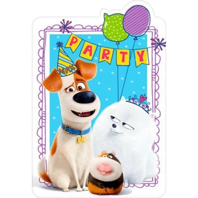 secret life  pets  invitations ct party city
