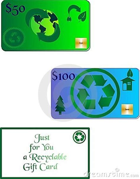 Recycling Gift Cards - the gift card of recycling stock photos image 9870533