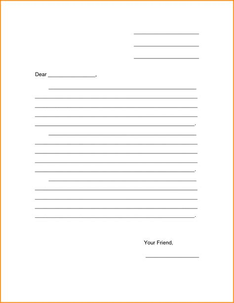 blank letter template letter template 2017