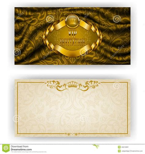luxury invitation card template template for vip luxury invitation stock
