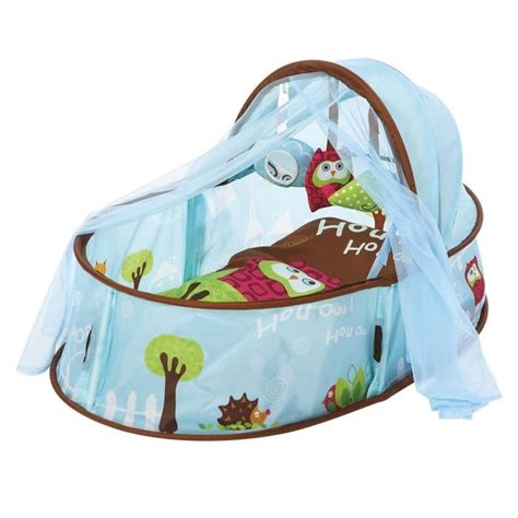 ludi dodo nomade chouette bleu achat vente lit pliant