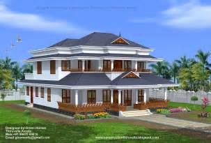 Traditional style kerala home design kerala home with courtyard