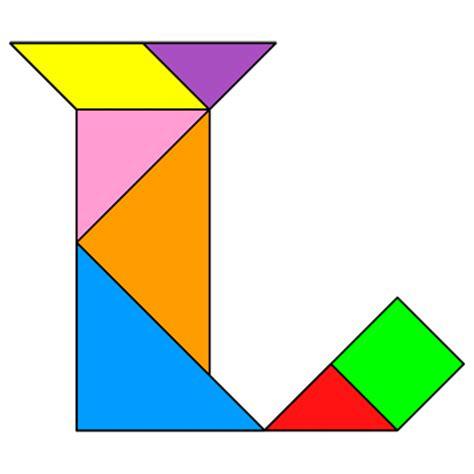 L Puzzle by Tangram Letter L Tangram Solution 62 Providing