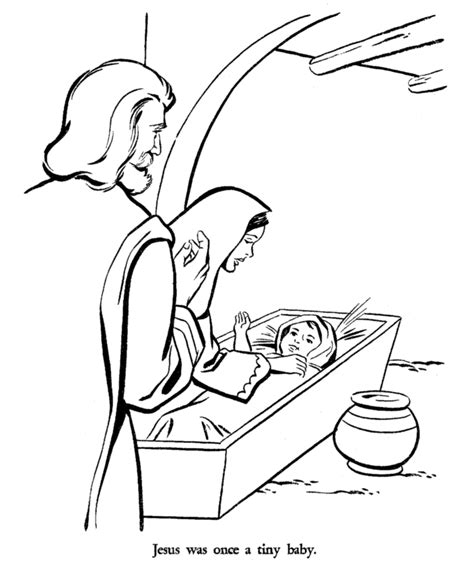 Mary And Joseph Coloring Sheet Coloring Pages Coloring Pages Baby Jesus