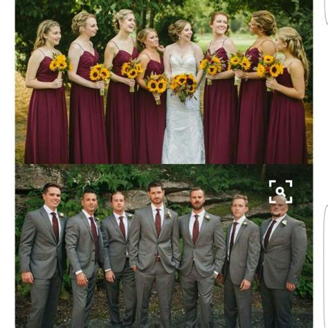 Sunflower theme wedding   Grey and maroon   wedding ideas