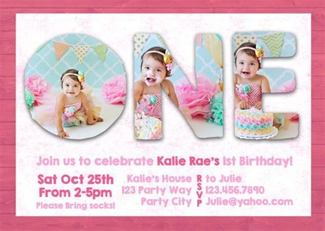 Birthday Invitation Card Template Photoshop by Photoshop Template 1st One Birthday Invite