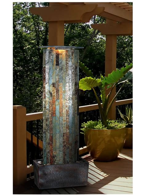 large water  wall indooroutdoor fountain garden