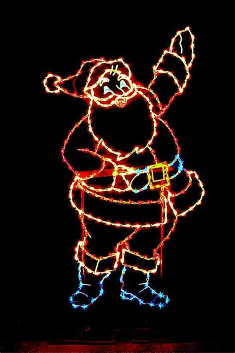 santa light spectacular and light displays