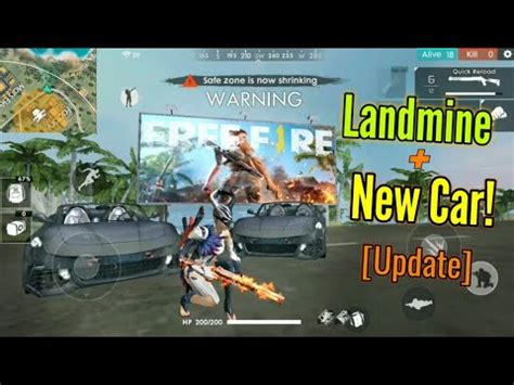 update landmine sports car garena  fire
