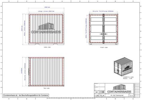 Shipping Container Floor Plan container zeichnung download datenblatt 2d 3d cad
