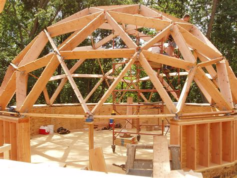 Geodesic Dome Home your guide to wood frame dome home construction