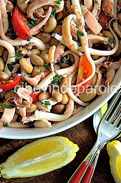 cucinare moscardini freschi insalata di moscardini e fagioli