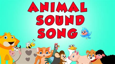 animal sound song youtube