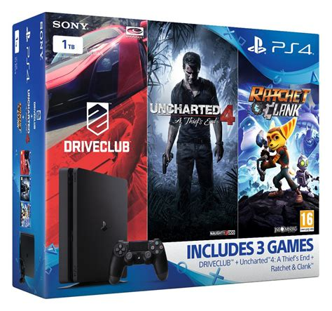 Ps4 Ratchet Clank Big Planet 3 Drive Club Pack R3 sony playstation 4 ps4 slim 1tb family pack with 3