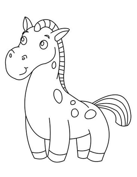 Sho Kuda Yang Kecil gambar mewarnai kuda poni untuk anak paud dan tk aneka